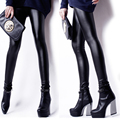 New Fashion Women Leggings High Quality Faux Leather Leggings Plus Size Black Leggings Stretch Skinny Sexy Pants Leggins