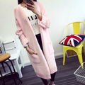 2016 Autumn new fashion Women Sweater Long section Cardigan sweater Long Sleeve Loose Knitted Cardigan Long Sweaters Coat