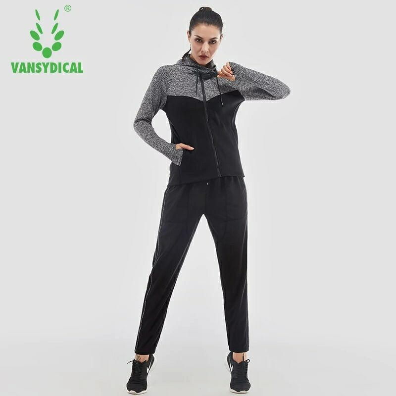 2018 femmes Yoga ensemble à manches longues Fitness respirant veste à glissière Sport soutien-gorge Yoga chemise course pantalon court 4 pièces Jogging costume