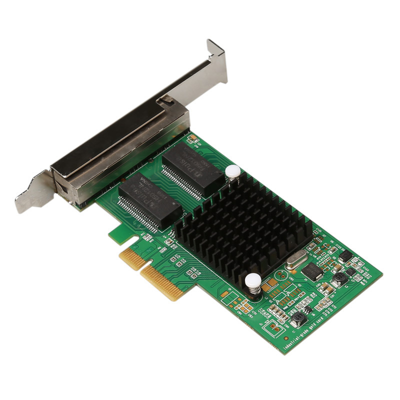 I350T4 10/ 100/ 1000Mbps PCI-Express PCIE 4 x RJ45 Gigabit Ethernet Quad Port Server Adapter Card pcie x1 4 port gigabit ethernet server card adapter 10 100 1000mbps i340 t4 esxi
