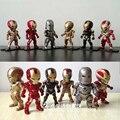 6 estilos sin luz Iron Man figura de acción Marvel los vengadores 4 modelo de coches de juguete de decoración regalo de cumpleaños del muchacho Movable