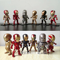 6 styles No Light Iron Man Action Figure Marvel's the Avengers 4 Model Toy Car Room Decoration Boy Birthday Gift Movable