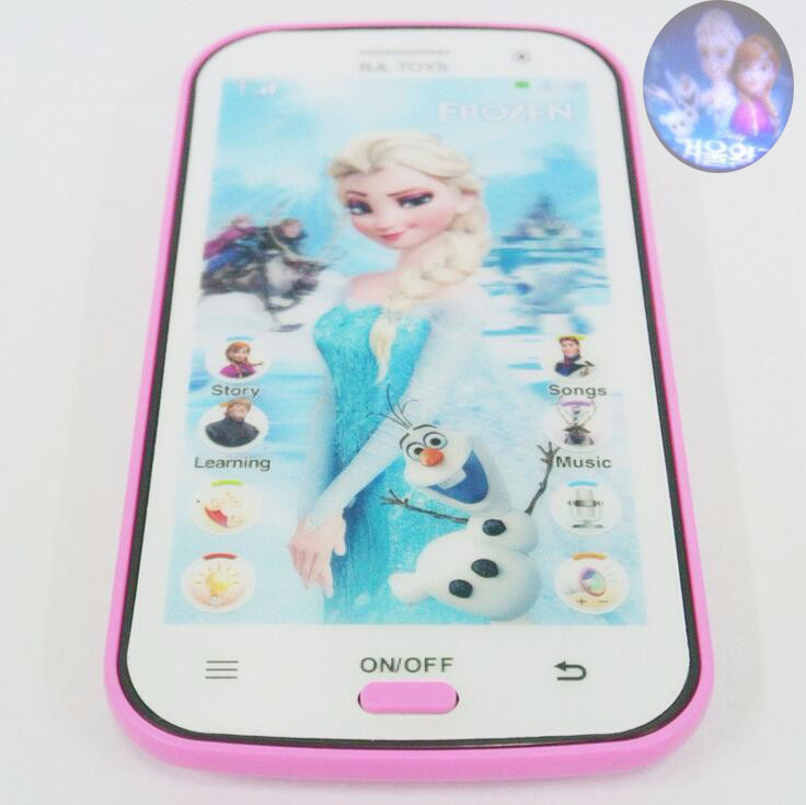 Snow Queen Toy Phone Talking Princess Anna Elsa Phone Mobile Learning & Education Baby Mobilephone Electronic Toys 8 pcs set queen princess cinderella elsa anna little mermaid snow white alice princess pvc figures toys children gifts