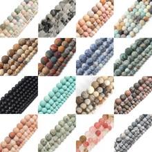 Perles rondes en pierre naturelle Morganite, de style d'oeil de tigre, pour la fabrication de bijoux, de taille 4mm 6mm 8mm et 10 mm, bracelet de 15 pouces, Diy