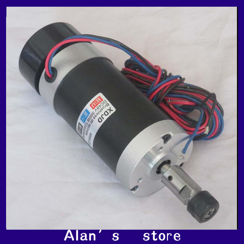 Er16 48v500w High Speed Air Cooled Brushless Spindle Motor
