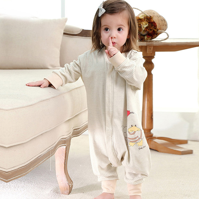 1 PCS Retail Newborn baby Sleeping Bag Cotton infant Clothes style sleeping bags Long-sleeved Romper for 0-6 Years Old