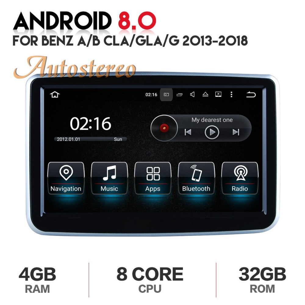 Autostereo Android8 Car DVD Player GPS navigation For MERCEDES BENZ A B G CLA GLA 2013 2018 multimedia radio recorder 4GB RAM