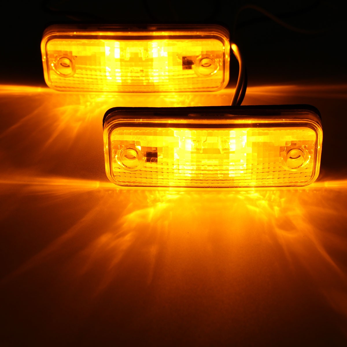2pcs 4 LED Side Marker Light Indicator Lamp Bus Truck Trailer Lorry Caravan 10~30V E8 2016 hot 1pc 12v 6 smd led car bus truck trailer lorry side marker indicator light side lamp new dropping shipping high quality