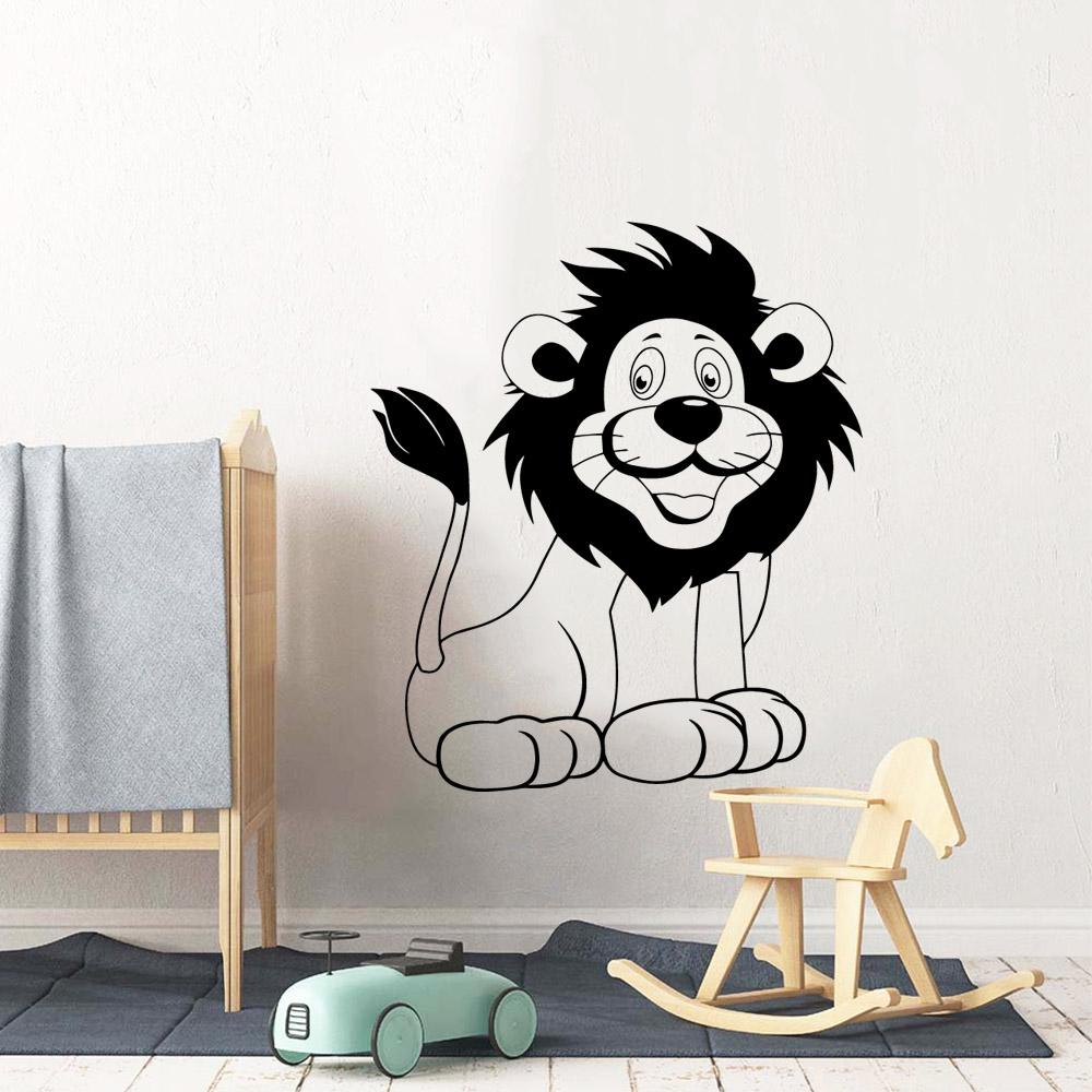 Plane Sticker Lion Removable Art Vinyl Wall Stickers Living Room Children Background Decal