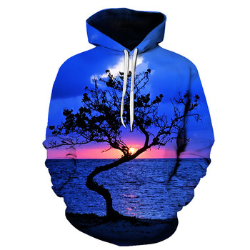 New brand hoodie streetwear hip-hop landscape harajuku hoodies men's and women's hoodies and s-6xl sweatshirts for 2018 Lady