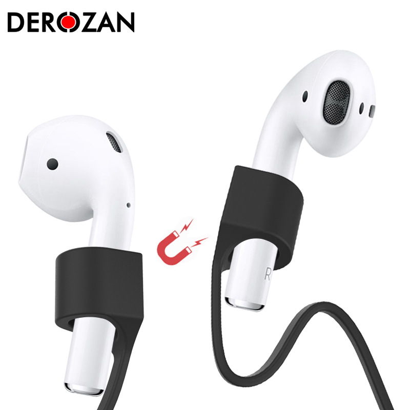 Magnetic Earphones Silicone Cable Cord For <font><b>Airpods</b></font> Anti-Lost Strap Magnetic String Rope For i7s i10 i12 <font><b>i30</b></font> <font><b>TWS</b></font> Earphone Strap image