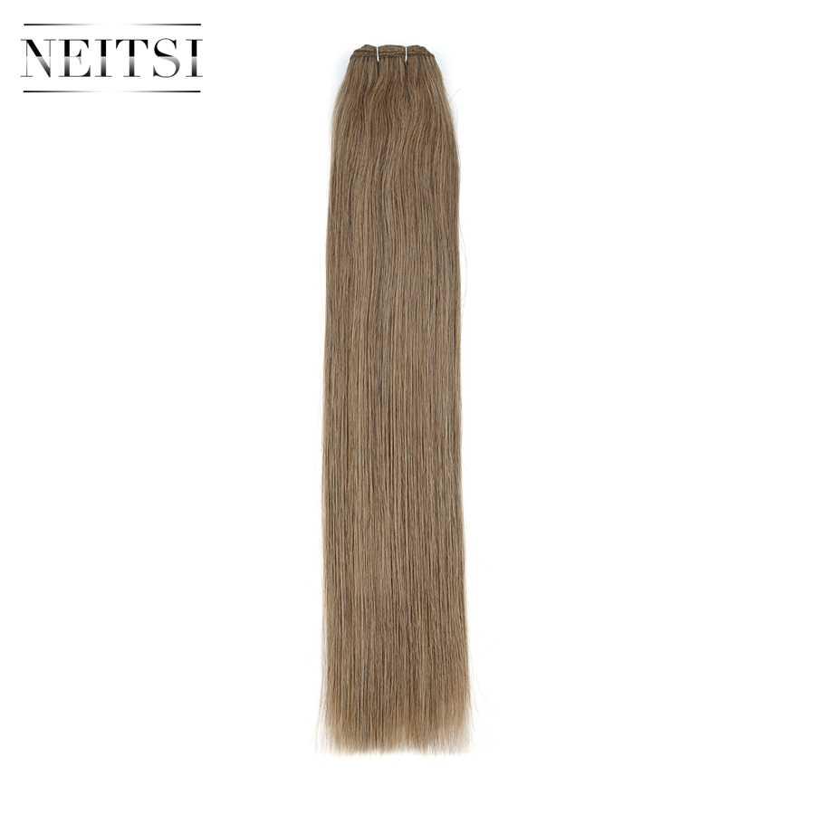 "Neitsi recta doble extensiones de cabello humano Remy 20 ""24"" 100 g/pc negro pelo rubio paquetes de trama rápido de entrega"