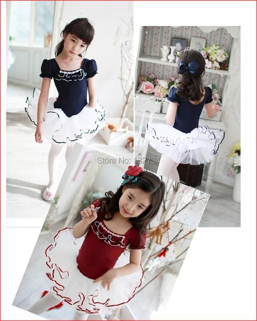 Retail Girls Kids Dance Dress Ballet Tutu Dancewear Dresses Leotard Play Stage Costumes Children Clothing