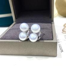 2 PEARLS 925 Sterling Silver Earrings Findings Base Earrings Settings Mountings Parts Mounts for Pearls Agate Coral Beads Stones