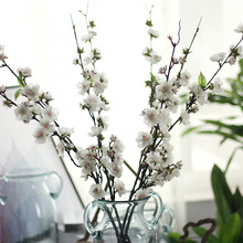 1 Pcs 43 Inch Romantic Artificial Flowers Silk Cherry Blossom Peach Flower Home Wedding Decorative artificial branches
