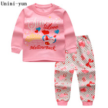 Girls Clothes Children Clothing 2017 Brand Toddler Girl Clothing Sets Roupas Infantis Menino Character Sweet heart Kids Clothes