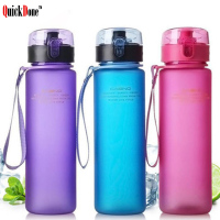QuickDoue 560ML BPA FREE Plastic Water Portable Sports Outdoor Water Bottles Travel Hiking Drinking Bottle AKC5021