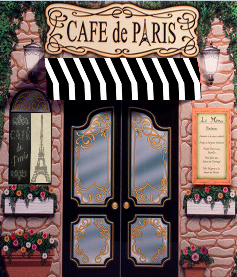 Paris Retro Stone Coffee Store Eiffel Tower Backgrounds Vinyl cloth High  quality Computer print party backdrops