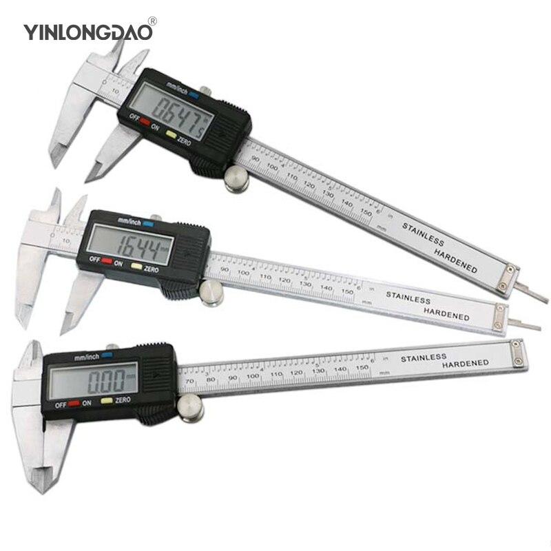 YINLONGDAO Metal 6-Inch 150 mm Digital Vernier Caliper Micrometer Gage Widescreen Electronic Accurately Measuring Hand Tool Set