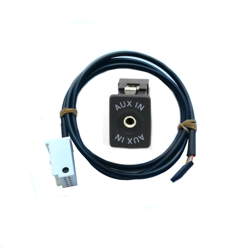 Car AUX IN AUX USB switch adapter AUX IN calbe harness kit for VW Golf Passat RCD310 RCD510 RNS510
