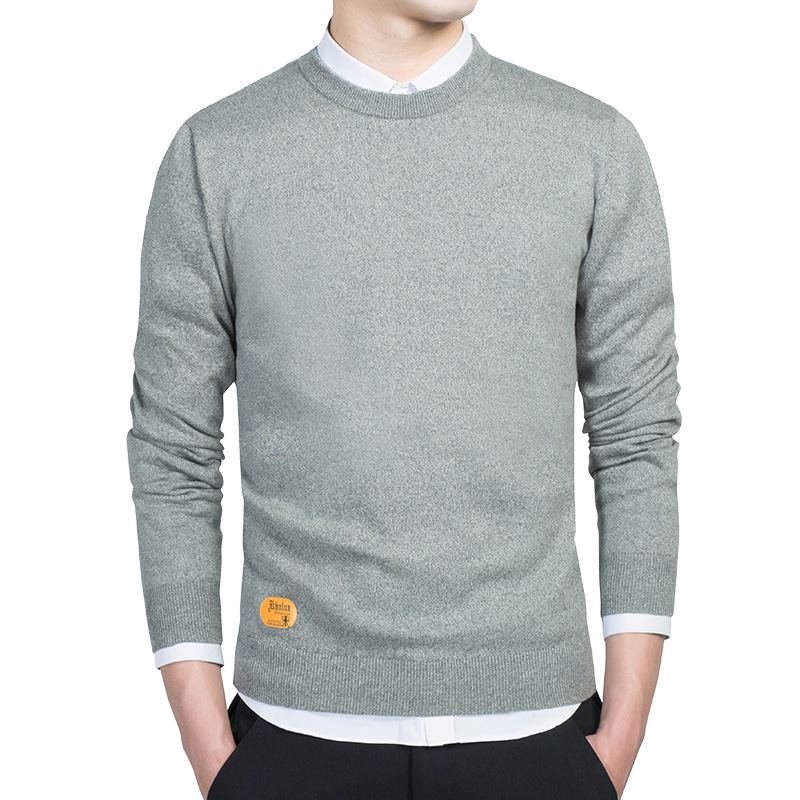 Fashion Sweaters Men Basic Sweater Red Pullovers Winter Slim Design Knitwear Solid