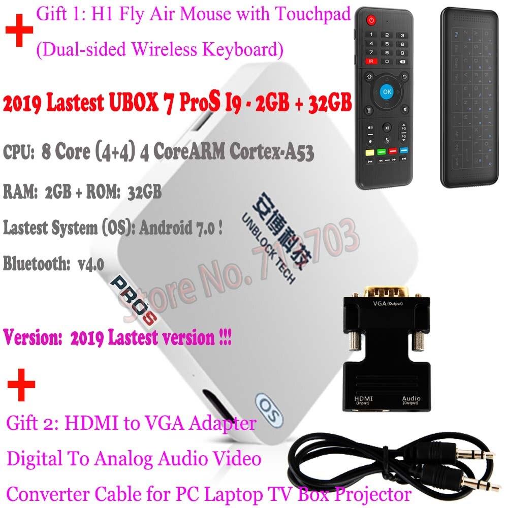 2GB 32GB 2019 dernier débloquer Gen.7 UBOX 7 PROS Pro2 gratuit IPTV Android TV BOX UBTV gratuit 1000 chaînes Smart TV IPTV lecteur multimédia - 3