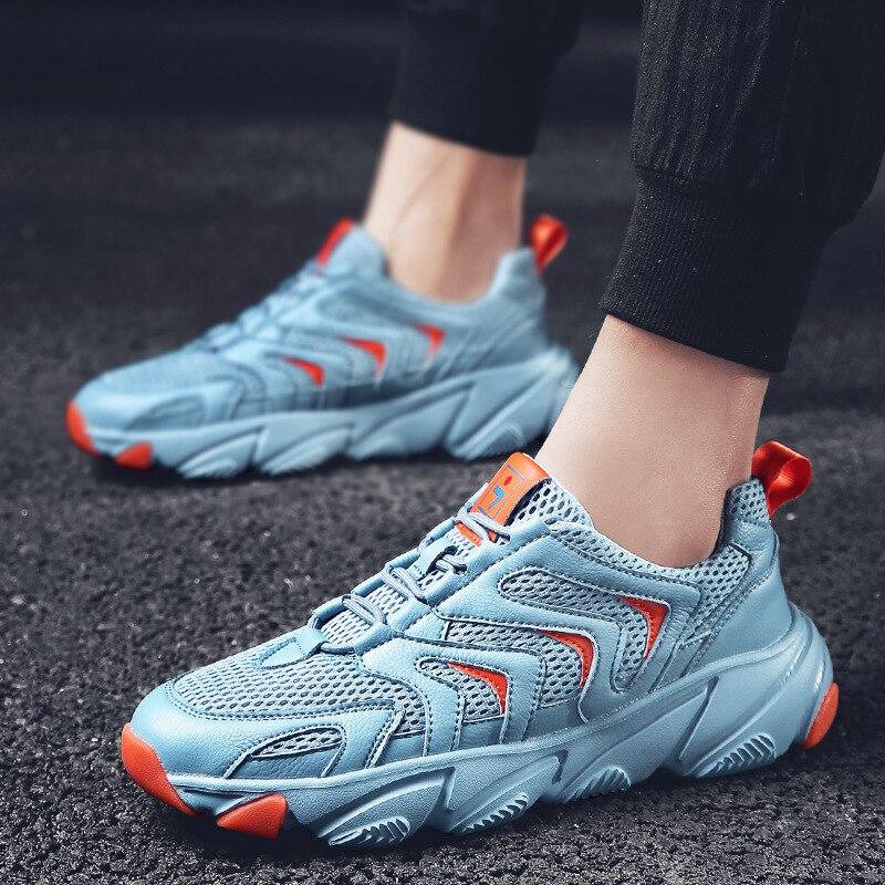 Mode Chunky Sneaker Kanye Ins West Mesh hommes rue décontracté blanc chaussure Zapatillas De Hombre décontracté Tenis Masculino livraison directe