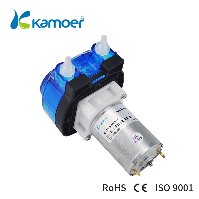 Kamoer Large flow cost-effective 3 rotors DC motor KHM peristaltic pump with silicone tube or Noprene tube kamoer 2018 the newest cost effective dc motor water pump khs peristaltic pump with silicone tubings