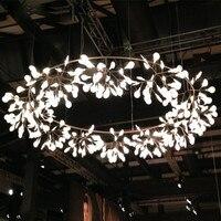 Moderno lâmpada led árvore firefly ramo folha luz pingente redonda flor suspensão lâmpadas barra de arte restaurante iluminação para casa al127b|Luzes de pendentes| |  -
