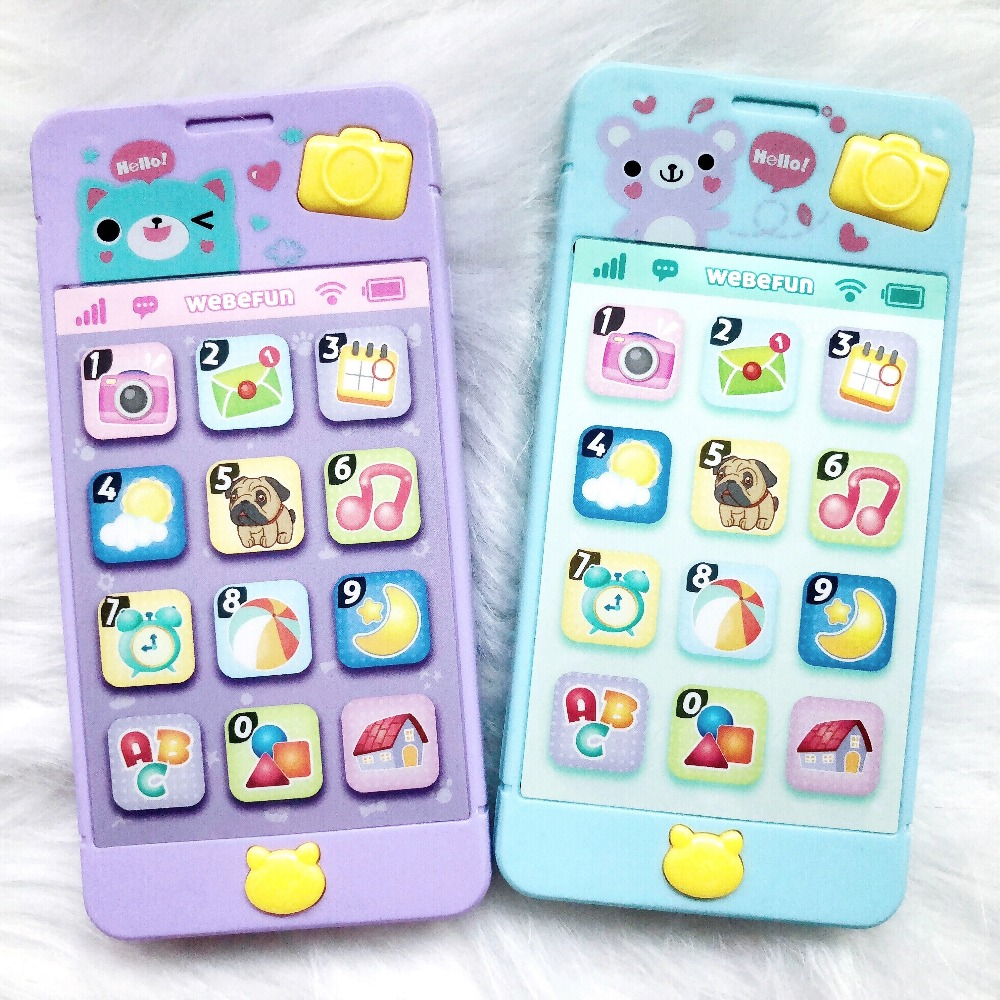 Toy Phone For Kids Spanish Singing Music Telephone Child 0-12 Play Mobile Baby Crying Smartphone Boy Girl Infant Early Education(China)