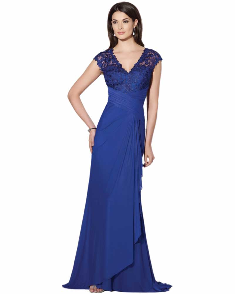Chiffon Navy Blue White Mother Of The Bride Dresses 2014