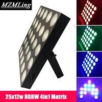 25x12 Вт RGBW 4 в 1 матрица с подсветкой стены мыть света DMX512 шайба вел открытый /прожектор DJ/бар/вечерние/шоу/свет этапа