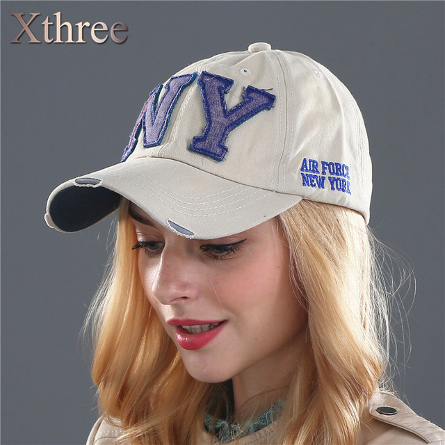 f25042290c183 Xthree unisex fashion cotton baseball cap snapback hat for men women sun hat  bone gorras ny ...