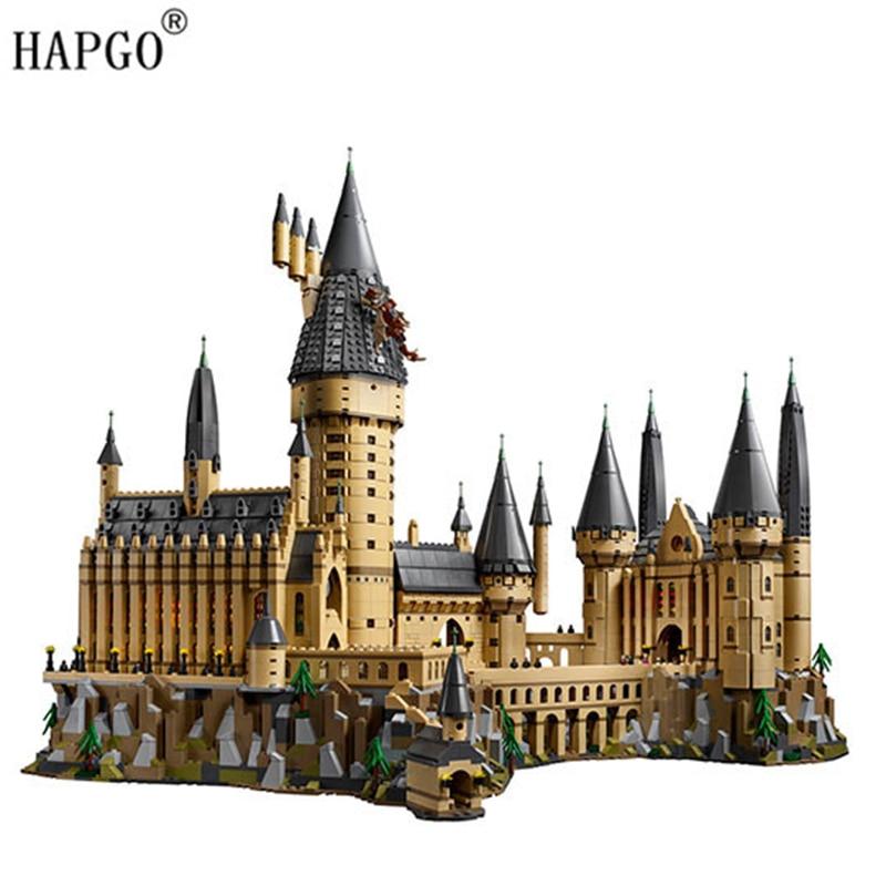 6742 piezas de Harry Potter colección Hogwarts Castillo Compatible Legoingly de Harry Potter 71043 edificio bloques juguetes para niños regalos