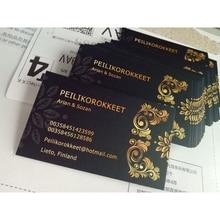90X54 Mm 300gsm Carta Bianca con Entrambi I Lati di Stampa di Colore Completo di Stampa di Biglietti da Visita