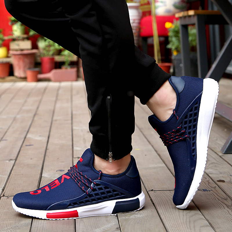 aliexpresscom buy breathable casual men shoes summer style letter mixed color mesh walking shoes sport trainers basket femme zapatillas flat red from - Basket Femme Color