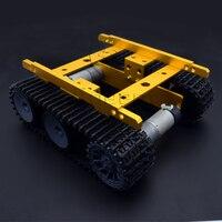 Adeept Nueva DIY Inteligente Robot Car Tank Chasis Inteligente De Aluminio para Raspberry Pi Arduino Freeshipping auriculares diy diykit
