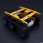 Adeept nouveau bricolage Intelligent réservoir châssis Intelligent en aluminium Robot voiture pour Arduino framboise Pi livraison gratuite casque bricolage bricolage kit - 1