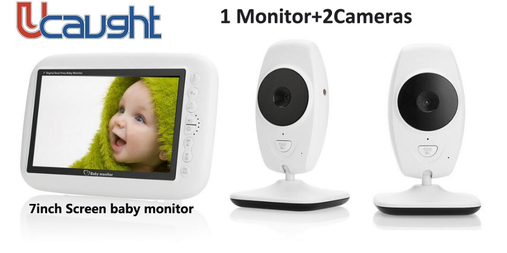 New Infrared 7.0 inch Infant Wireless Monitor LCD Night Vision Temperature Detection Display Video Baby Monitor baby Camera
