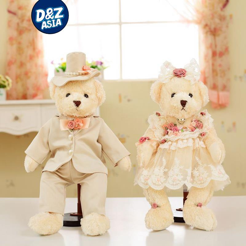 Korean Wedding Diamond Handmade Wedding Gift Small Stuffed Teddy
