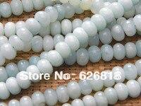 Оптовая природных 5*8 мм Амазонит Rondelle Spacer crystal