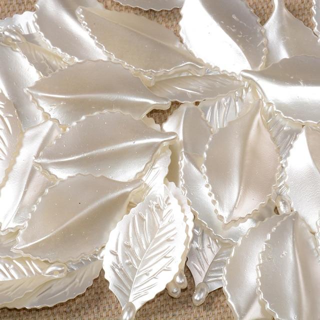 Купить подвеска в виде листьев из абс пластика 42 мм 15 шт/лот