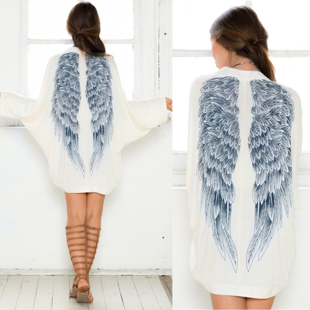 # Vestido 2017 Women Long Sleeve Angel Wings Prints Coat Women Cardigan Jacket Tops Chaquetas mujer Top sale17