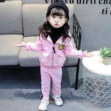 Baby Boys Girls Warm Set Winter Cartoon cat Kids Thickening Hooded Vest+Sweater+Pant Three-piece Sport Suits Children Clothing