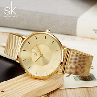 SK Stainless Steel Quartz Watch Women Watches Ladies Luxury Famous Brand WristWatches Female Clock Montre Femme