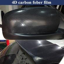 30*100CM Car Stickers 4D Carbon Fiber Farbon Film Inner Decor Anti-Scratch Cover Accessories For Volkswagen Audi