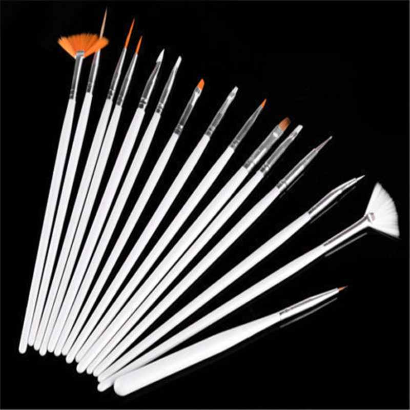 New Hot Sale Nail Art Design Painting Dotting Detailing Pen Brushes Bundle Tool Kit Set UK ...