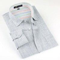 Brand High Quality Linen Men S Shirts Long Sleeve Male Casual Business Shirts Flax Dress Shirt