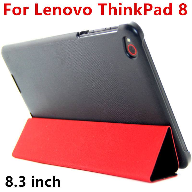 Case For Lenovo ThinkPad 8 Protective PU Smart cover Protector Faux Leather Tablet For ThinkPad 8 Cover Cases 8.3 inch case for lenovo thinkpad 10 keyboard bluetooth with pu cover protective protector leather tablet pc thinkpad10 case 10 1 inch
