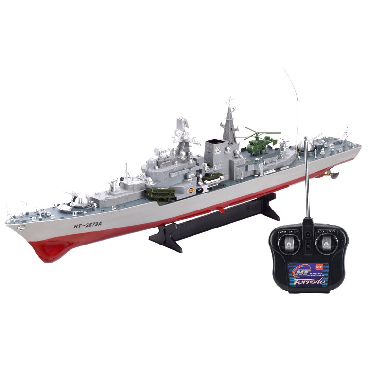 2879A 1:275 Remote radio control military RC boat destroyer model toy Simulation Model RC Warship Cruiser Warship best gift 1 700 myoko cruiser assembly model warship toys retrofit parts